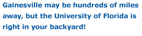 UF in Your Backyard