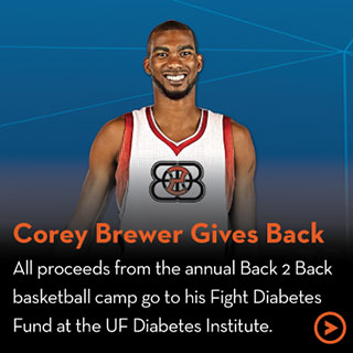 Corey Brewer Gives Back