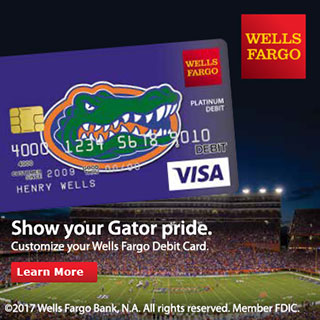 Wells Fargo Gator Debit Card