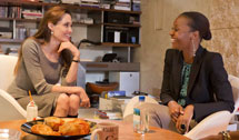 Nathalie Nozile and Angelina Jolie